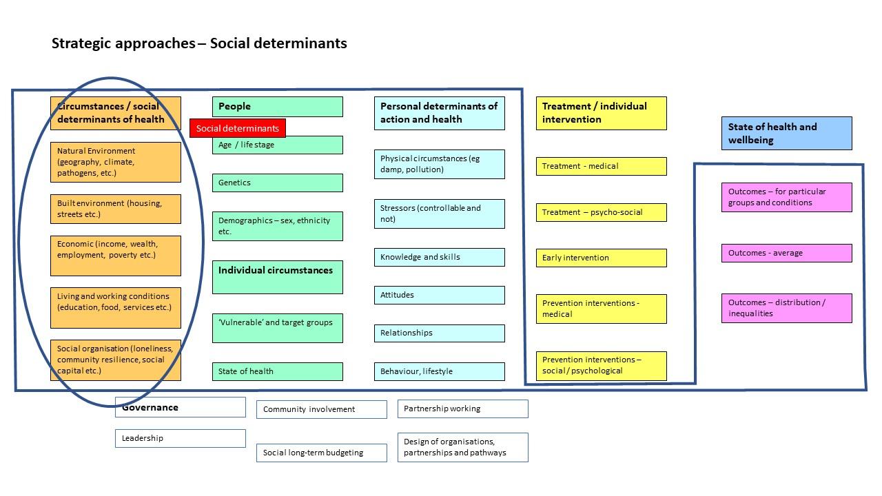Social determinants as a strategic focus in the JHWS